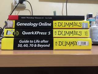 Adobe Photoshop Elements 2.0 Guide, QuarkExpress5, Genealogy For Dummies, and more!