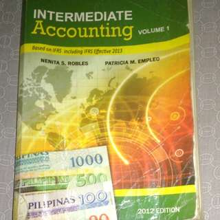 INTERMEDIATE ACCOUNTING 2012 EDITION: VOLUMES 1 TO 3/ ROBLES; EMPLEO