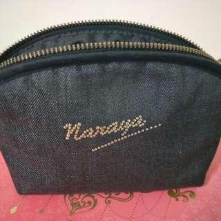 🚚 【二手】NaRaYa 曼谷化妝包-牛仔布(泰國購入正品)