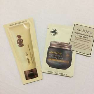 Super volcanic pore clay mask & jeju volcanic color clay mask