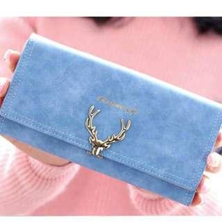 🚚 新款時尚女士長款錢包小鹿鎖扣手拿包日韓版學生多卡位大容量手包錢包長夾錢夾