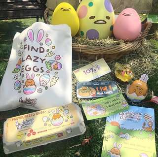 Gudetama Easter event tote bag and Cafe 1-1 voucher