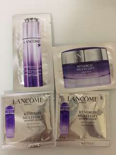 Lancome Sample (Lancome renergiemulti-lift revitalising intense concentrate firming anti-wrinkle, gel-in-lotion, rich cream )