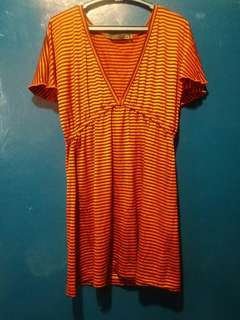 Collezione dress stripes red and black