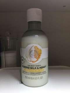 The body shop shower cream