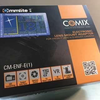 100%全新 Commlite CM-ENF-E1 PRO 轉接環(Nikon to Sony E) for A7ii A7Rii
