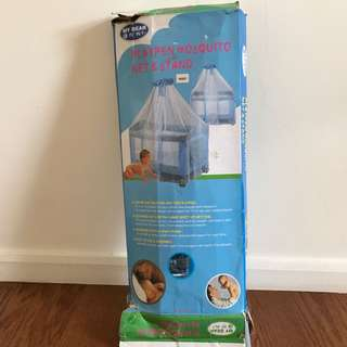 Playpen mosquito net and stand