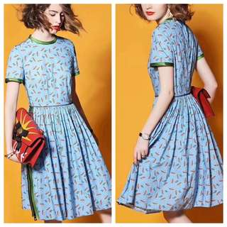 Ditsy vintage dress
