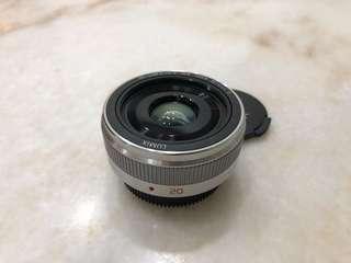 Panasonic Lumix 20mm F1.7 V2 Prime lens