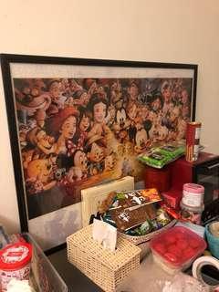 Disney 2000 已砌puzzle連框