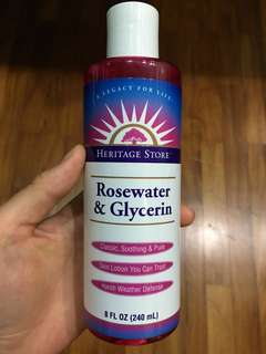 Rose water and glycerin