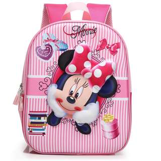3D Minnie Mouse School bag