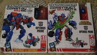 REPRICED*TAKE ALL* ConstructBots Optimus Prime Set