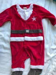 Baby Santa clause jumpsuit - 12 months