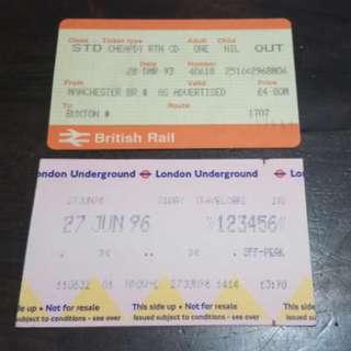📣包郵📮英國鐵路車票兩張