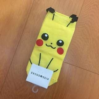 寶可夢 皮卡丘 可愛造型短襪