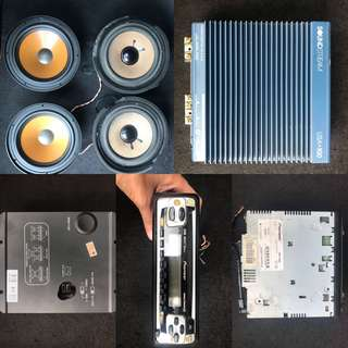 POWER AMP & 4X Speakers & Pioneer radio