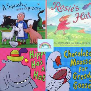 Julia Donaldson★Squash and Squeeze★Rosie Hat★Hippo★Greedy Goose★Children Books