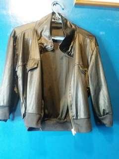 Soft leather like cloth jacket