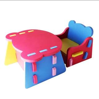 Foam table and chair