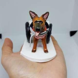 Custom made dog figurine by polymer clay