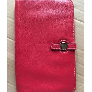 Lancome purse wallet with cellphone cover