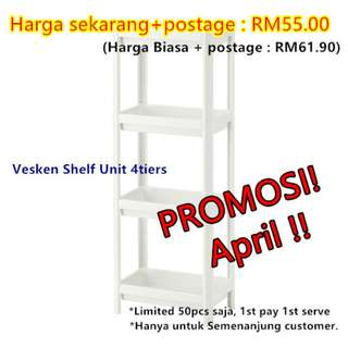 (APRIL PROMO-50UNITS/INCLUDE POSTAGE) [IKEA] VESKEN Shelf Unit / White
