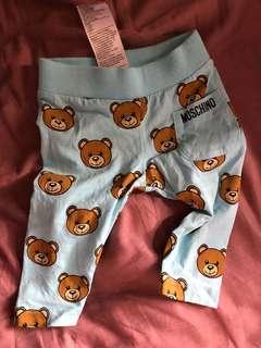Moschino Bear baby pants 藍色滿熊小褲褲 3-6months