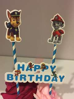 Paw Patrol Birthday Topper
