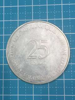 🔥Clearance🔥Malaysia Silver Coin RM25 Year 1976