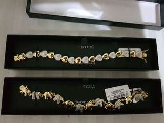 Authentic Macy's Silver Plated Bracelets from US