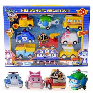 Robocar Poli Pull Back Car Toys 8 Pcs in 1 Set