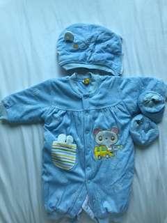 Baby winter jumpsuit - size 80