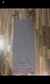 H&M tie knot dress