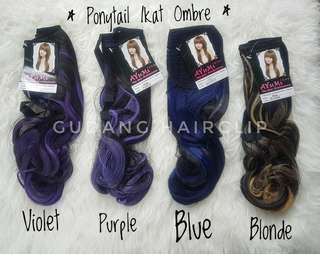 Ponytail ikat ombre