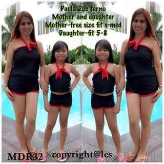 Now Available!! Paula Mother And Daughter  🔖350mother 🔖310kids   Set 590   2 pc swimsuit Mother (padded) NSA pic ang sizes😊 ✴ls Sat-cutoff/sun-pickup/monday-shipping