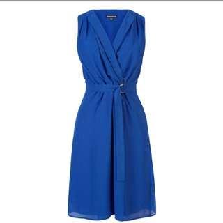 🚚 Warehouse Open Collar D-Ring Dress UK6