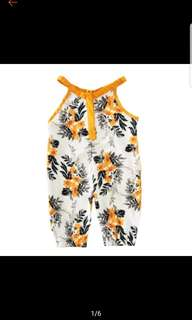 Yellow Flower Prints Onesie Romper size 60 - 3 to 6months
