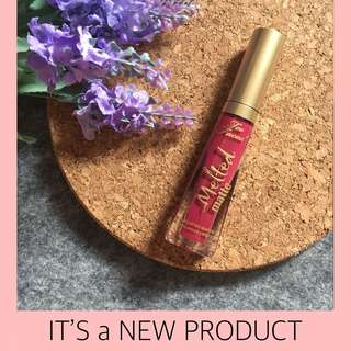 NEW Too Faced Melted Liquid Long Matte Lipstick Bend & Snap
