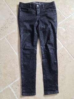 American eagle black baroque jeans (size 0)