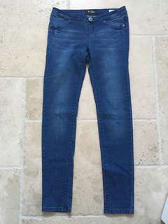 Guess polka dot blue jeggings (xs)