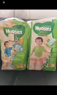 Huggies Ultra Diapers (11pcs) / Pants (8pcs)