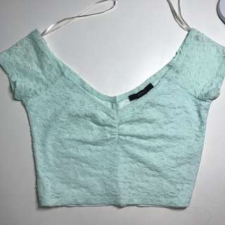 F21 Cropped Lace Top
