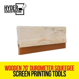 Silk Screen Printing - Wooden 70' Durometer Squeegee 35cm