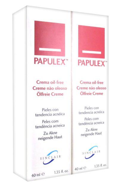 2 bottles Papulex Oil free cream + Free mailing
