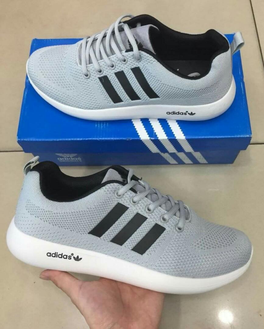 huge discount 092b4 27c6e ADIDAS CLOUDFOAM 1.0 Color: Light Grey with black stripe Size 40-45 ...