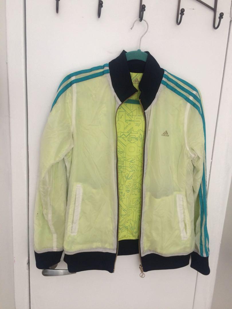 Adidas light green jacket