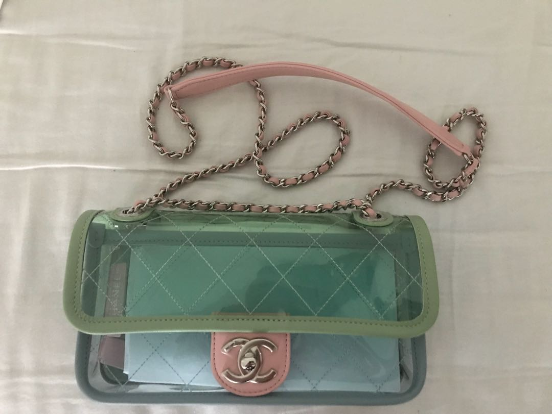 21594cfb3dbd Authentic Chanel PVC Flap Bag, Luxury, Bags & Wallets on Carousell