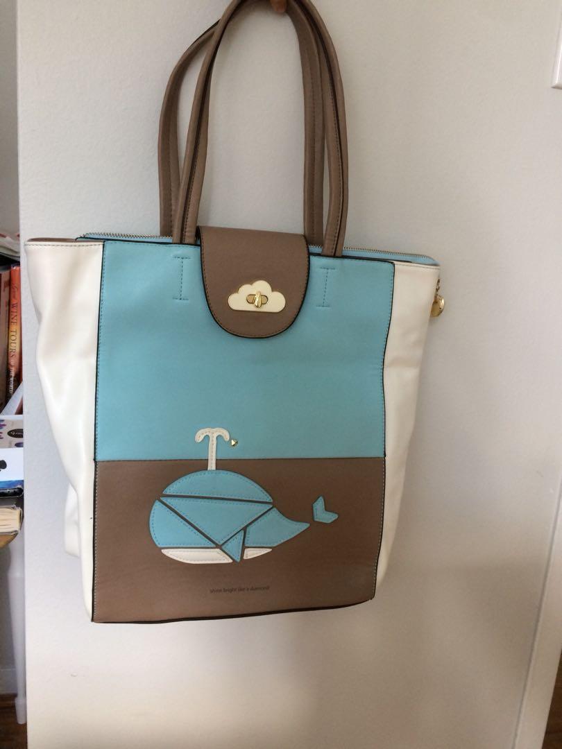 A-za light blue bag