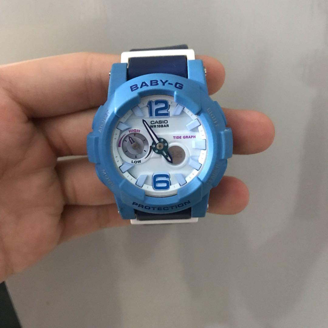 Baby G Watch Blue Womens Fashion Watches On Carousell Casio Bga 150ef 4b Original